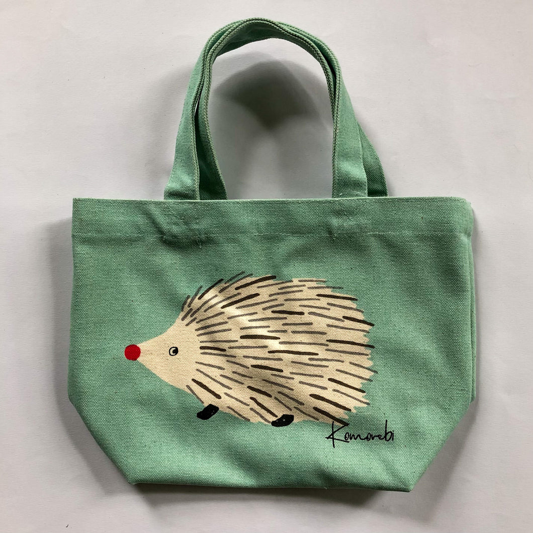 Friends Hill Mini Tote Komorebi Mint Green Hedgehog - MAIDO! Kairashi Shop