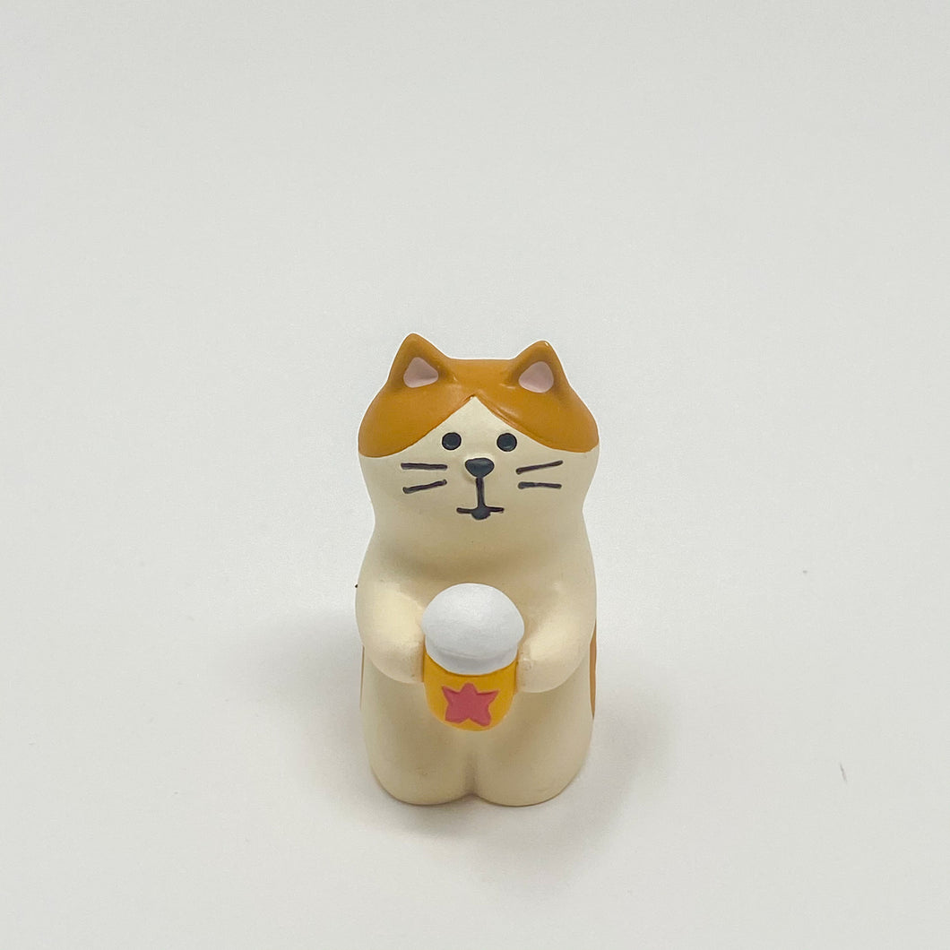 concombre Figurine Cat with Beer - MAIDO! Kairashi Shop