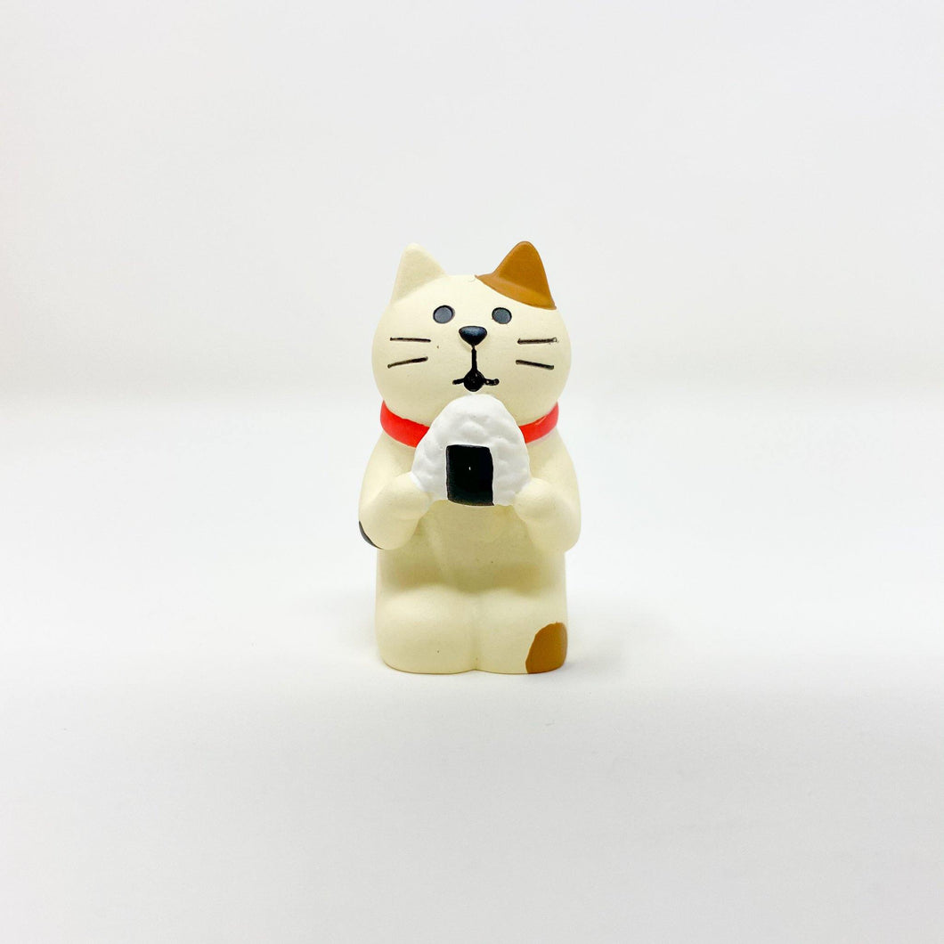 concombre Figurine Cat with Omusubi - MAIDO! Kairashi Shop