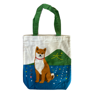 "Friends Hill ""Inu Monji"" Shibata Tote Bag - MAIDO! Kairashi Shop"