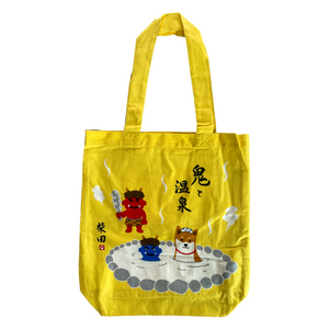 "Friends Hill ""Hot Spring with Ogor"" Shibata Tote Bag - MAIDO! Kairashi Shop"