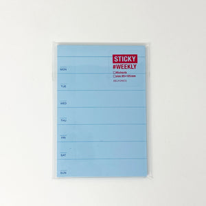 Delfonics Sticky Schedule Weekly - Light Blue - MAIDO! Kairashi Shop