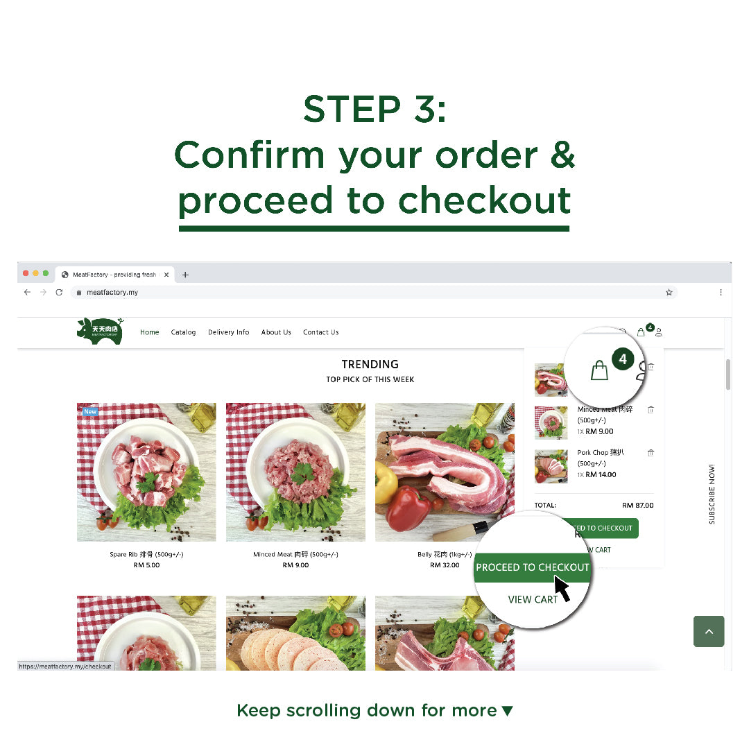 Meatfactory   Step 3 Add to cart