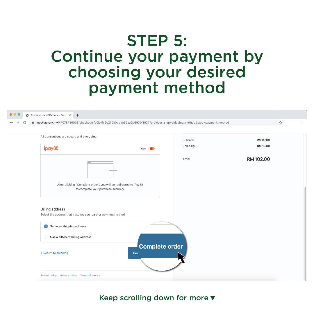 Meatfactory   Step 5 Select Payment Type