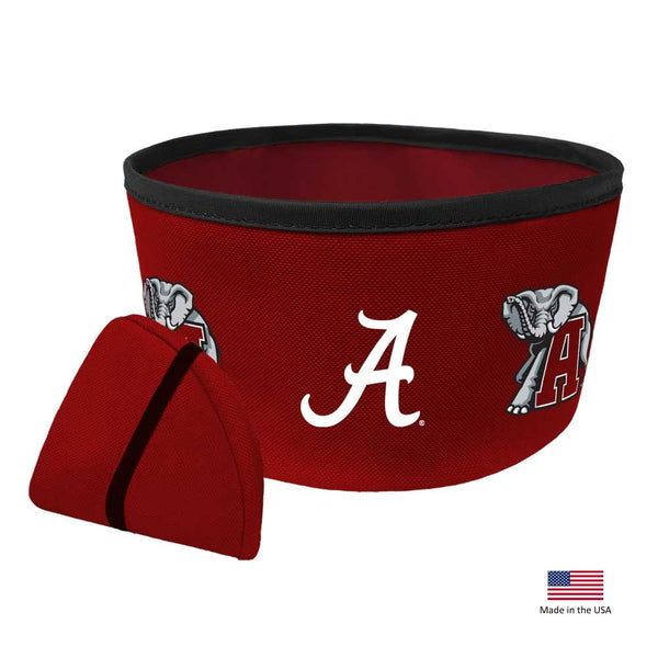 Alabama Crimson Tide Collapsible Pet Bowl - National Fur League