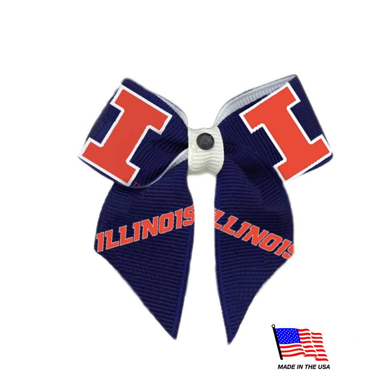 Illinois Fighting Illini Pet Hair Bow - National Fur League