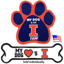 Illinois Fighting Illini Car Magnets - National Fur League