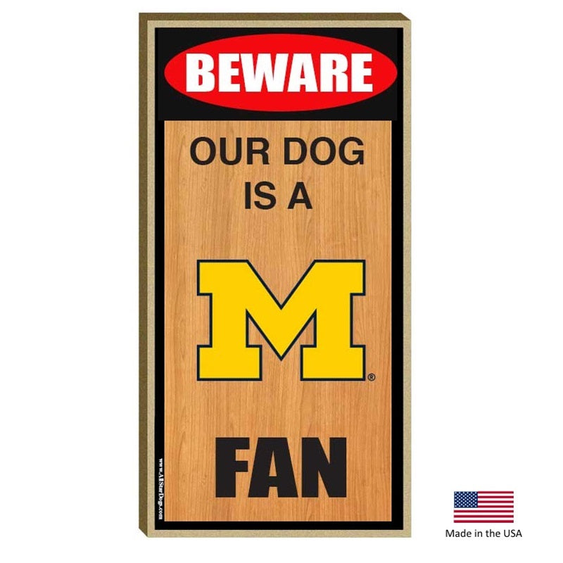 Michigan Wolverines Wood Sign - National Fur League