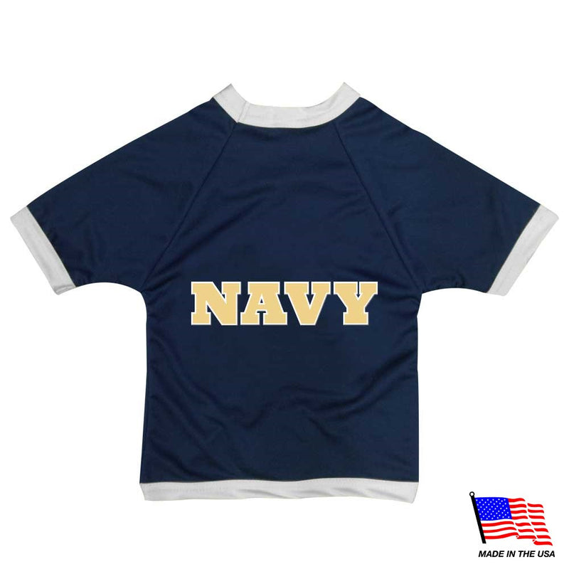 Navy Midshipmen Athletic Mesh Pet Jersey - National Fur League