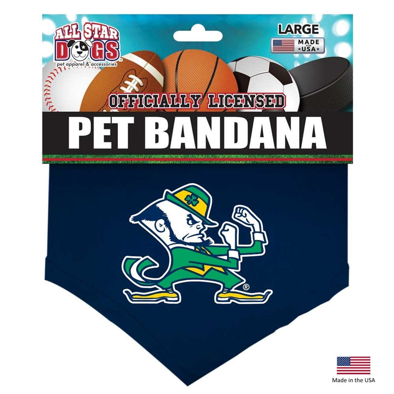 Notre Dame Leprechaun Pet Bandana - National Fur League