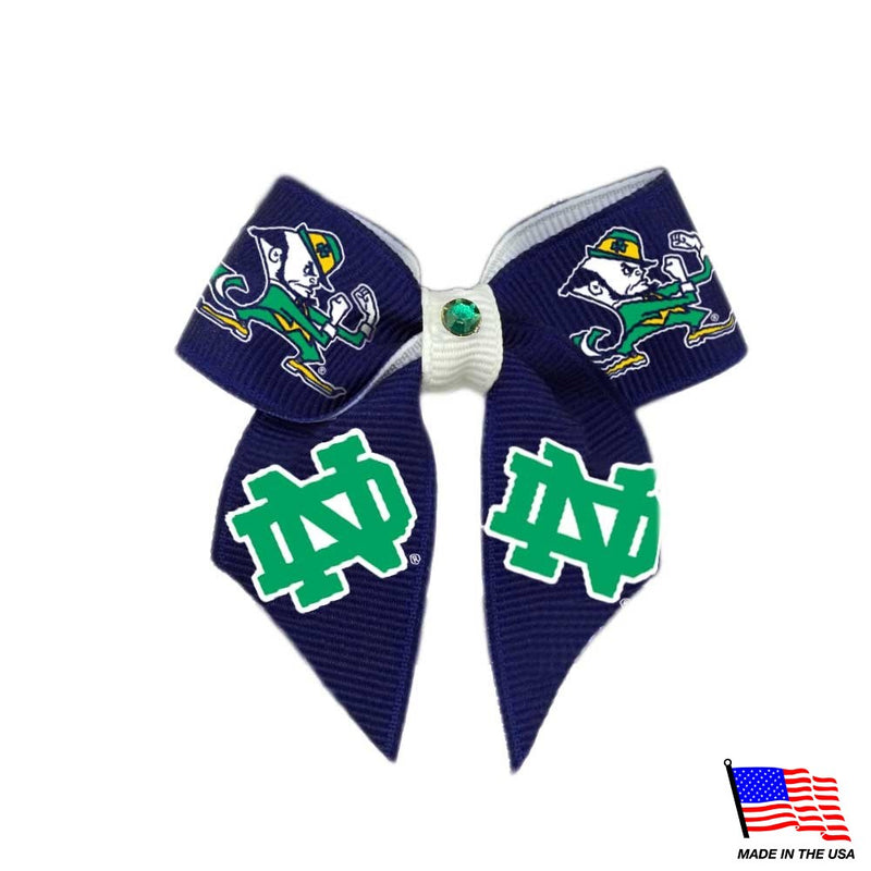 Notre Dame Leprechaun Pet Hair Bow - National Fur League