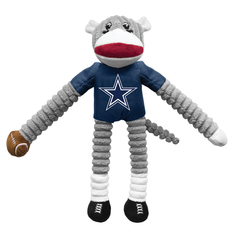 Dallas Cowboys Sock Monkey Pet Toy - National Fur League