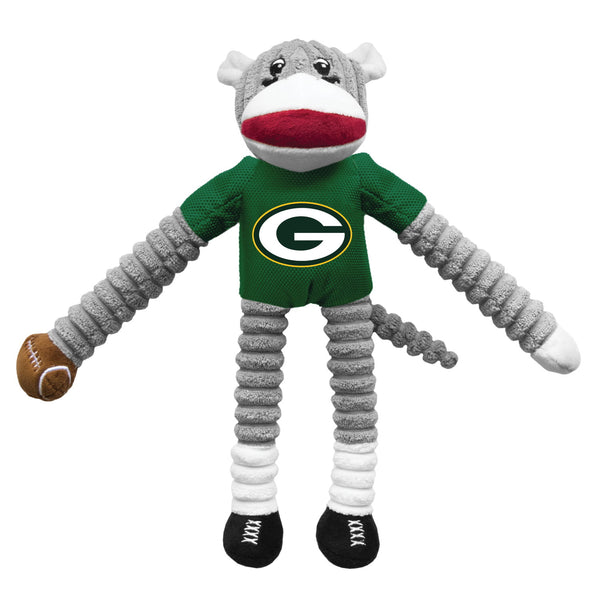 Green Bay Packers Sock Monkey Pet Toy - National Fur League
