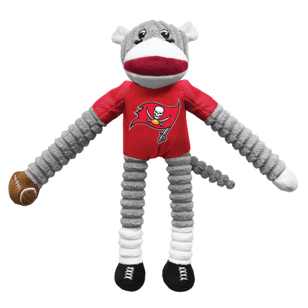 Tampa Bay Buccaneers Sock Monkey Pet Toy - National Fur League
