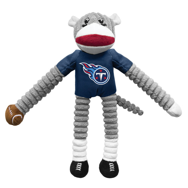 Tennessee Titans Sock Monkey Pet Toy - National Fur League