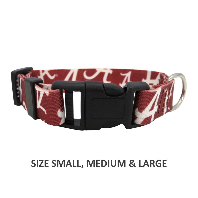 Alabama Crimson Tide Pet Nylon Collar - National Fur League