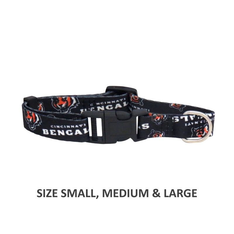 Cincinnati Bengals Pet Nylon Collar - National Fur League