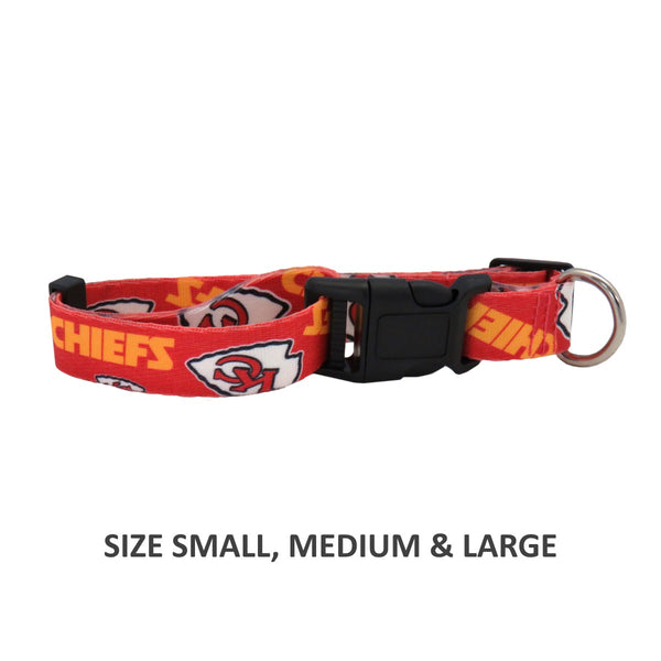 Kansas City Chiefs Pet Nylon Collar - National Fur League