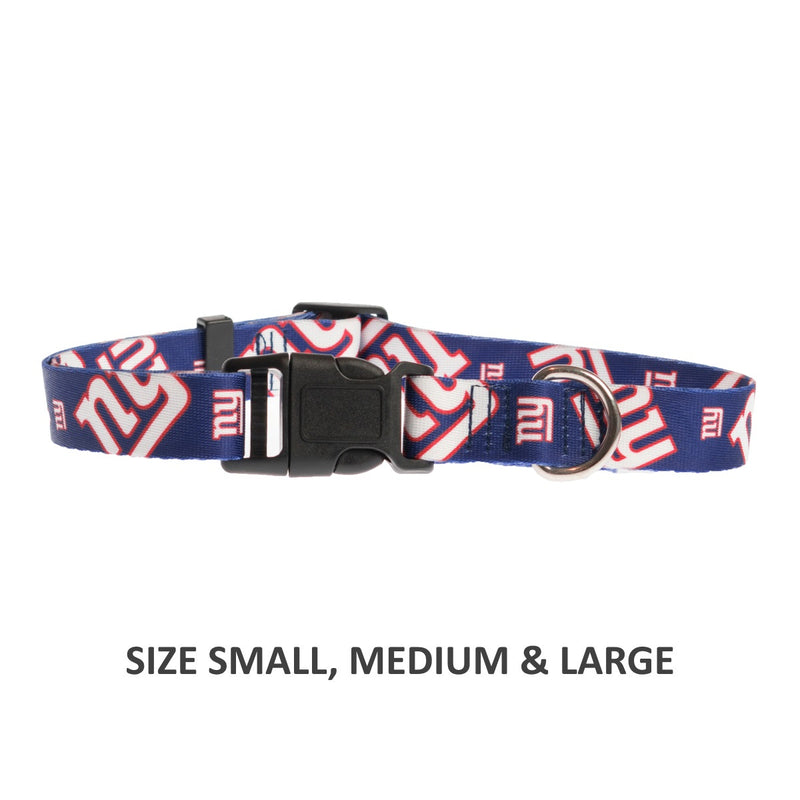 New York Giants Pet Nylon Collar - National Fur League