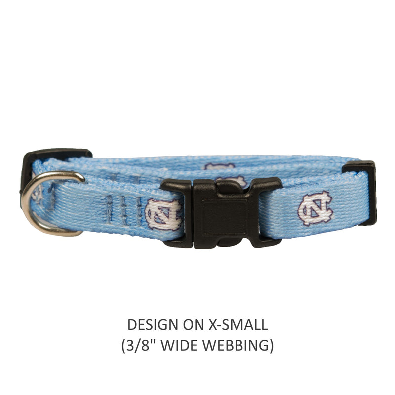 North Carolina Tarheels Pet Nylon Collar - National Fur League