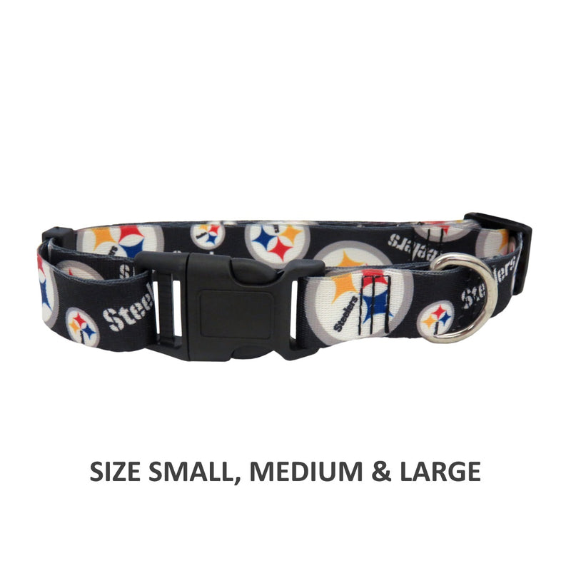 Pittsburgh Steelers Pet Nylon Collar - National Fur League