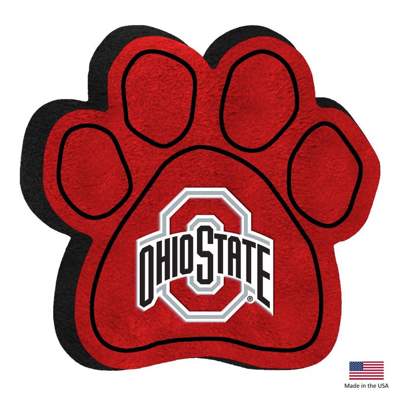 Ohio State Buckeyes Paw Squeak Toy - National Fur League