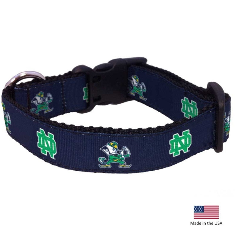 Notre Dame Leprechaun Pet Collar - National Fur League