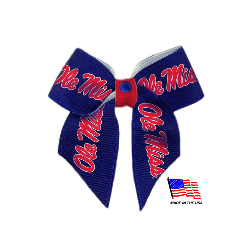 Ole Miss Rebels Pet Hair Bow - National Fur League