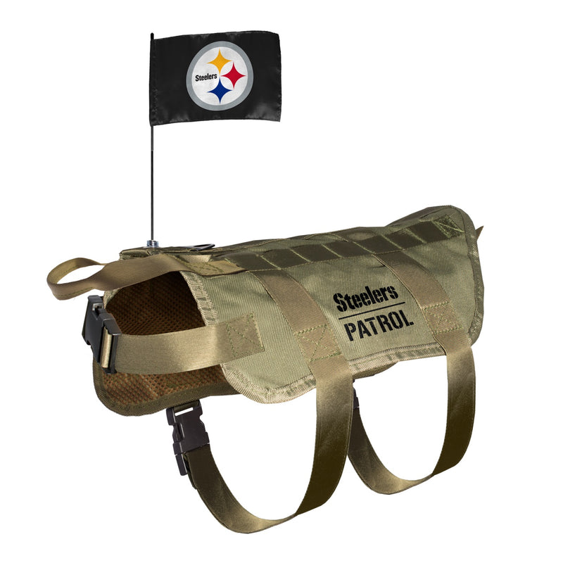 Pittsburgh Steelers Pet Tactical Vest - National Fur League
