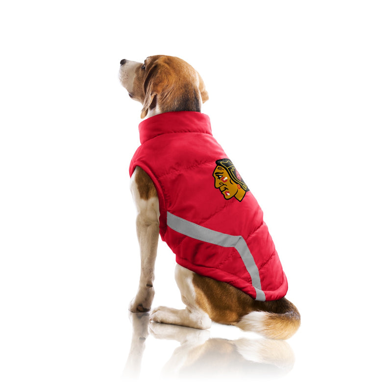 Chicago Blackhawks Pet Puffer Vest - National Fur League