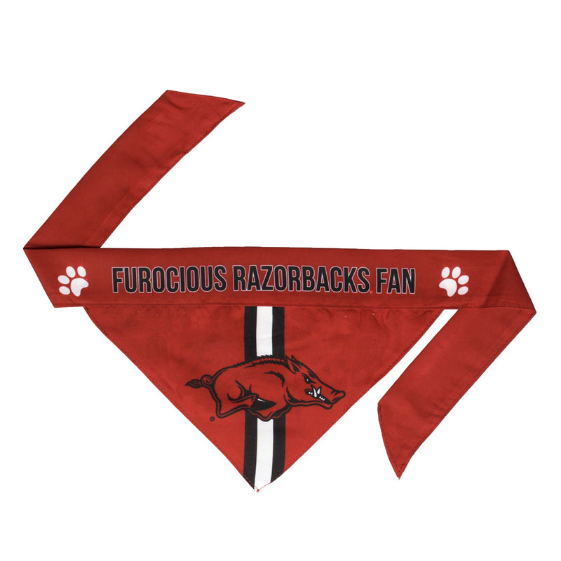 Arkansas Razorbacks Pet Reversible Paisley Bandana - National Fur League