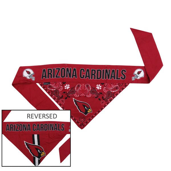 Arizona Cardinals Pet Reversible Paisley Bandana - National Fur League