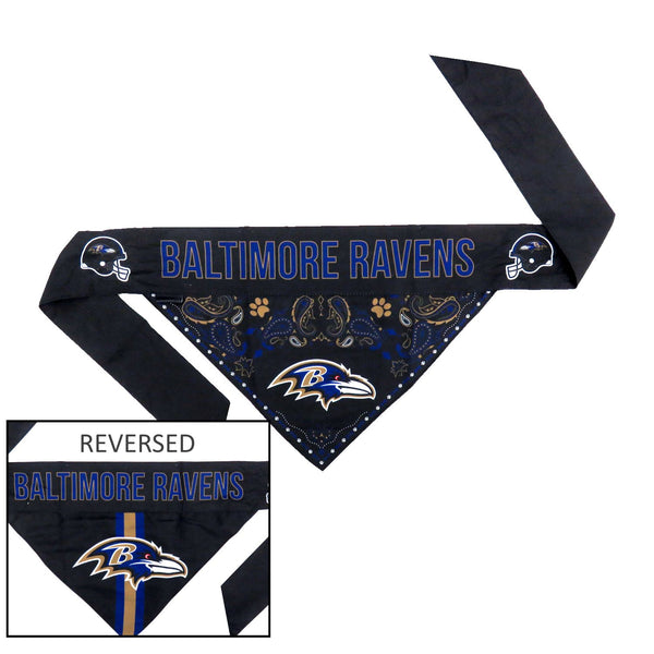 Baltimore Ravens Pet Reversible Paisley Bandana - National Fur League