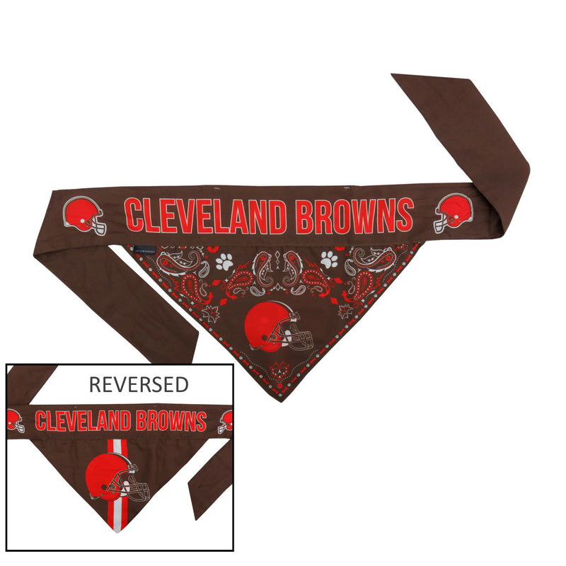 Cleveland Browns Pet Reversible Paisley Bandana - National Fur League