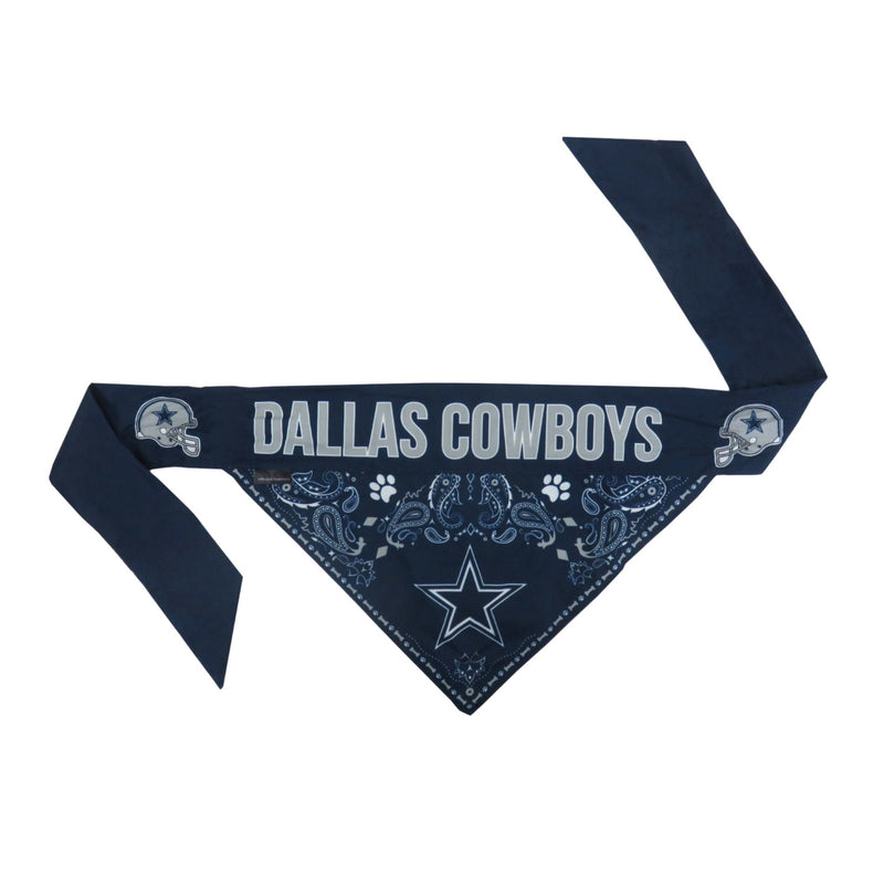 Dallas Cowboys Pet Reversible Paisley Bandana - National Fur League