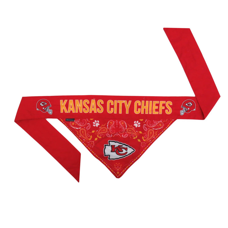 Kansas City Chiefs Pet Reversible Paisley Bandana - National Fur League