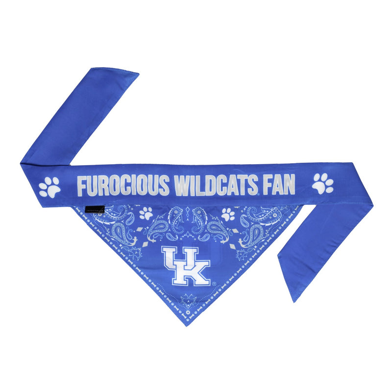Kentucky Wildcats Pet Reversible Paisley Bandana - National Fur League