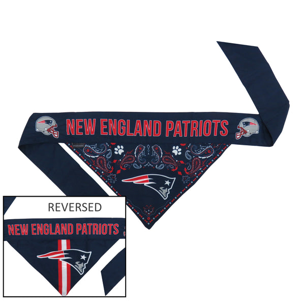 New England Patriots Pet Reversible Paisley Bandana - National Fur League