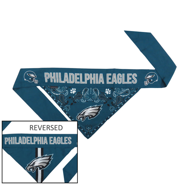 Philadelphia Eagles Pet Reversible Paisley Bandana - National Fur League