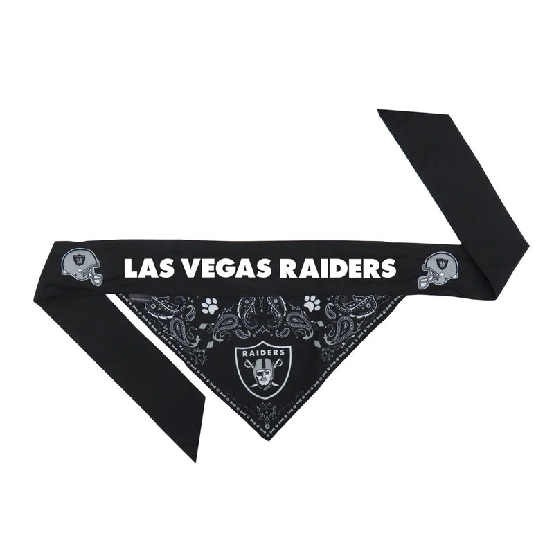 Las Vegas Raiders Pet Reversible Paisley Bandana - National Fur League