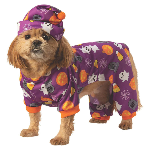 Halloween Emoji Print Pet Pjs Costume - National Fur League