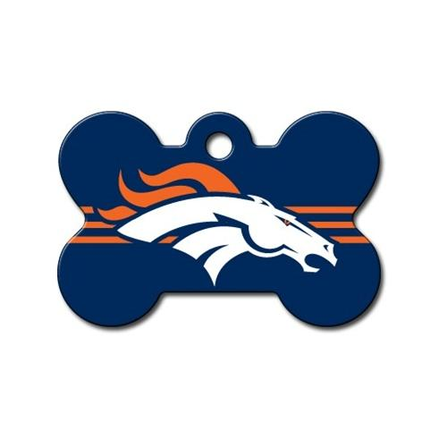 Denver Broncos Bone Id Tag - National Fur League