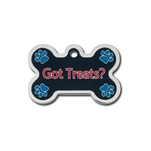 Got Treats? Large Bone W- Raised Edge Id Tag - National Fur League