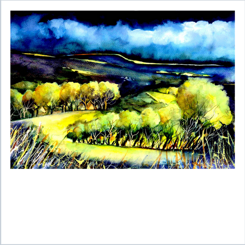 """Brecon Beacons"" Landscape Print by Janet Weight Reed"