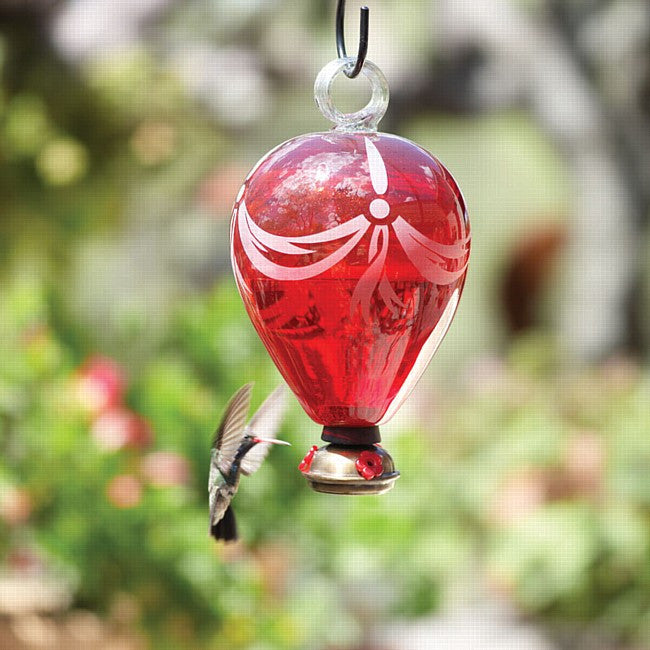 Eighty Days™ Red Hummingbird Feeder