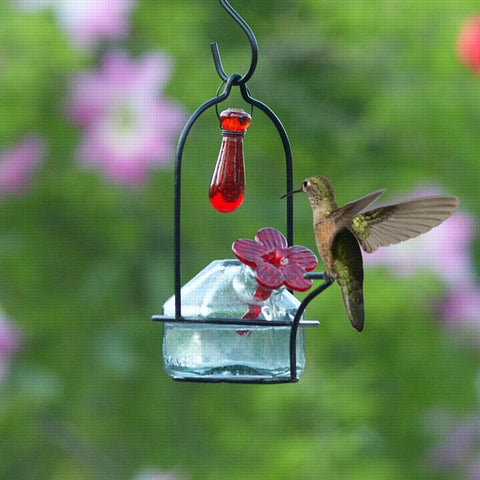 Lunch Pail Sweetheart Hummingbird Feeder