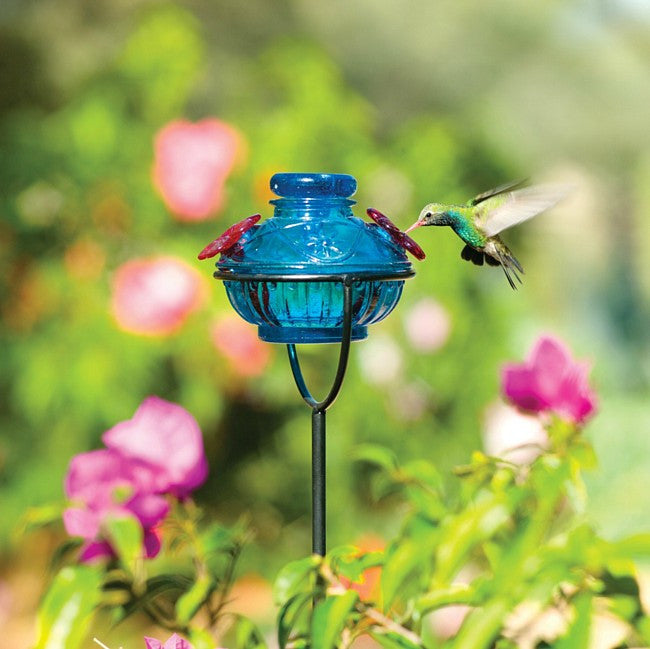 Pot de Crème™ on a Stake Hummingbird Feeder