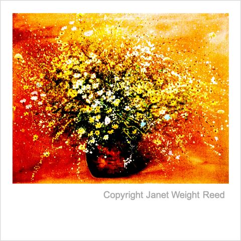 """Wildflower Blaze"" Print by Janet Weight Reed"