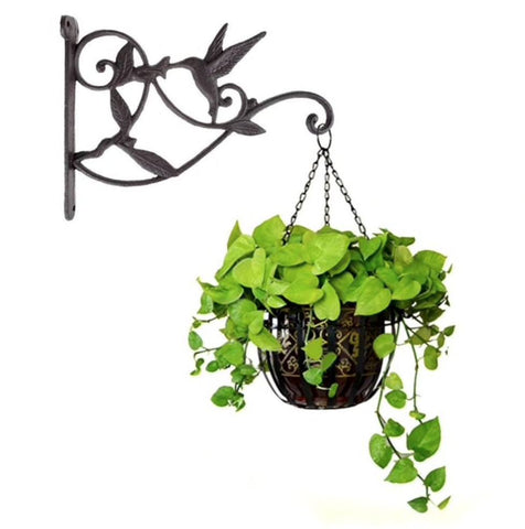 Hummingbird Cast Iron Hanging Basket Hook