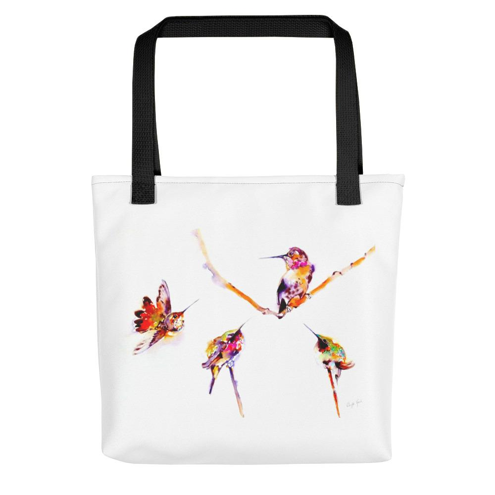 "Gifts - ""Musical Perches"" Hummingbird Tote Bag"